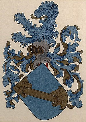 Sancho de Tovar - Coat-of-arms of Sancho de Tovar, as it appears in a contemporary nobiliary record.