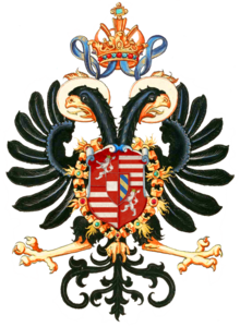 Das Wappen Maximilians auf dem Reichsadler (Quelle: Wikimedia)