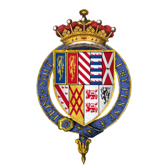 Francis Talbot, 5th Earl of Shrewsbury - Arms of Sir Francis Talbot, 5th Earl of Shrewsbury, KG