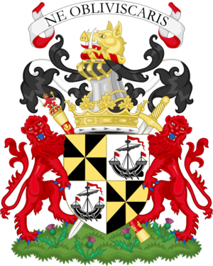Duke of Argyll - Image: Coat of arms of the duke of Argyll