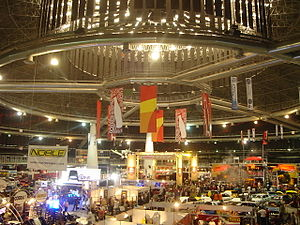 English: An autoshow held in the Coca-Cola Dom...
