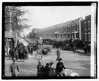 Columbia Road - Columbia Road in 1922