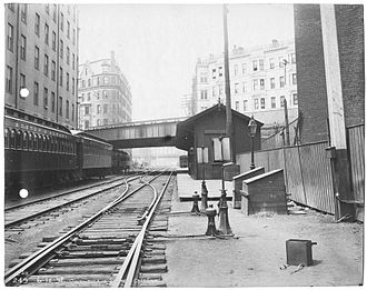 Back Bay station - Columbus Avenue station in 1898