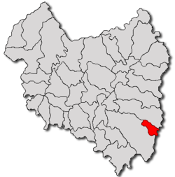 Location of Comandău