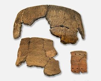 History of Latvia - Comb pottery example from Estonia, 4000-2000 BC