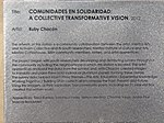 Comunidades en Solidaridad plaque at Jackson-Euclid station, Aug 15.jpg