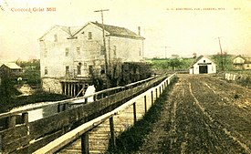Concord Grist Mill, Concord, Michigan -- card postmarked 1910. (8362234715).jpg