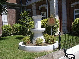 National Register of Historic Places listings in Christian County, Kentucky - Image: Confederate Memorial Fountain in Hopkinsville