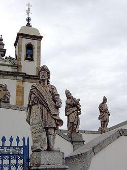 Congonhas sanctuary of Bom Jesus statues 2