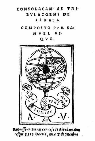 Samuel Usque - Consolação às Tribulações de Israel 1553