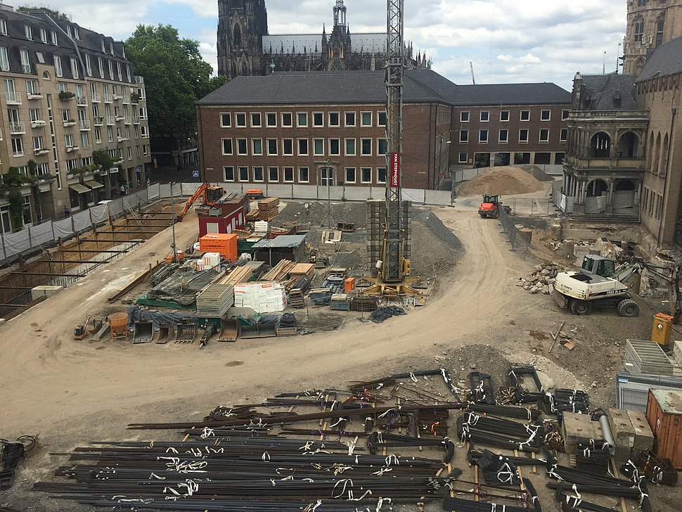 Construction site in Cologne, Germany (2017)