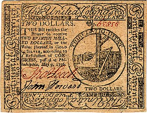 Continental Currency $2 banknote obverse (May 9, 1776).jpg