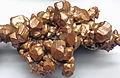 Copper crystals (Mesoproterozoic, 1.05-1.06 Ga; Central Mine, Keweenaw County, Upper Peninsula of Michigan, USA) 2 (17127538489).jpg