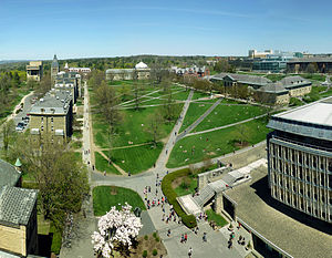 Cornell Central Campus - The Cornell Arts Quadrangle as seen from McGraw Tower.