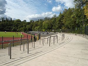 Poststadion - Image: Corner terrace at Postadion