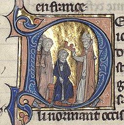 Coronation of Odos of Paris, from the Grandes Chroniques de France