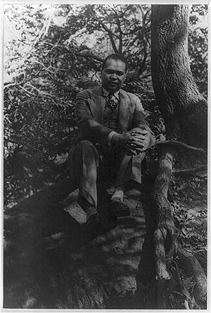 Portrait of Countee Cullen in Central Park. Ju...