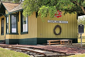 Coupland, Texas - Former train station in Coupland