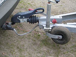 "Tow hitch - A trailer coupled (i.e., ""hooked"") onto a ball-type tow hitch"