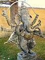 Courtyard of castle Juval; statue of Ganesh.jpg