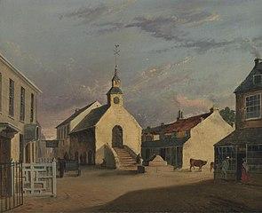 Cowbridge market hall and High Street