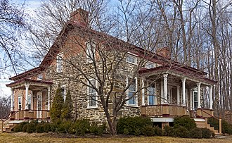 National Register of Historic Places listings in Rhinebeck, New York - Image: Cox Farmhouse, Rhinebeck, NY