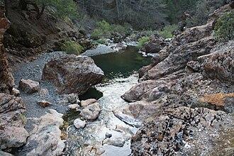 Rice Fork - Rice Fork at Crabtree Hot Springs