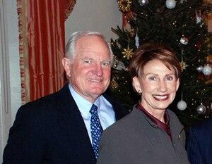 Craig Barrett (chief executive) - Craig and Barbara Barrett at the U.S. Embassy in Helsinki, Christmas 2008