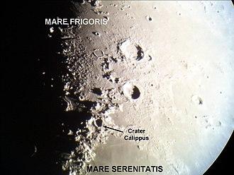 Calippus (crater) - Location of Calippus