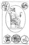 Cronos armé de la faucille (harpè) contre son père et divers médaillons pierre gravée.jpg