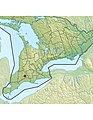 Cronyn Observatory within Southern Ontario, Canada relief map.jpg