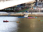 Cruise Boats and Pier under Dazhi Bridge 20120930.JPG
