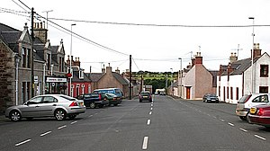 Cuminestown - The square and the main street in Cuminestown