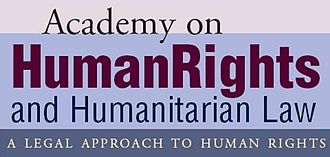 Academy on Human Rights and Humanitarian Law - Current logo acad