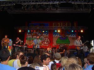 Cursive at Coney Island in 2007.