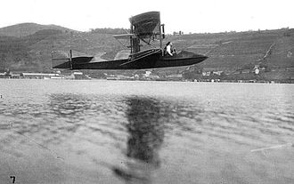 Curtiss Model F - First successful flight of the Curtiss Flying Fish over Keuka Lake, July 1912.
