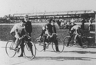 John Henry Lake - The final at the 1900 Olympics: Albert Taillandier (France), Fernand Sanz (France) and John Henry Lake (USA)