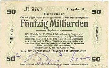 D-BW-KN-Radolfzell-Böhringen - Notgeld der Ziegelwerke Rickelshausen - 1923 - 50 Milliarden Mark.jpg