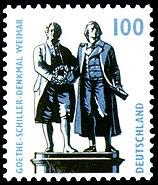 DPAG-1997-Sehenswuerdigkeiten-Goethe-Schiller-DenkmalWeimar