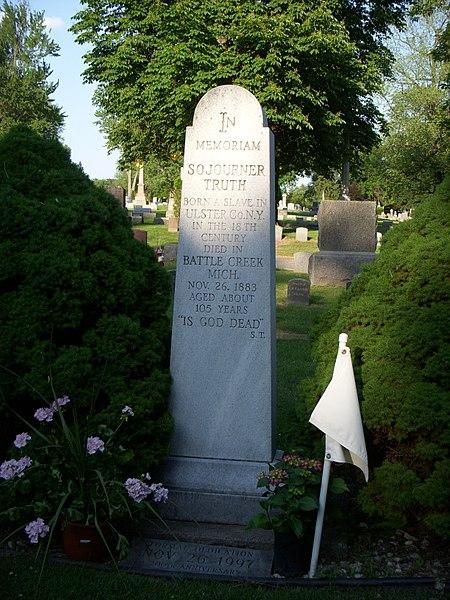 File:DSCN0017 grave of sojourner truth, oak hill cemetery, battle creek michigan.jpg