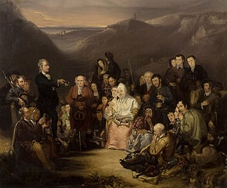 John Brown (Covenanter) - George Harvey; The Covenanter's Preaching, 1830; Dundee Art Galleries and Museums Collection