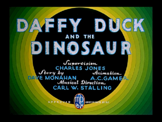 Daffy Duck and the Dinosaur - Title card