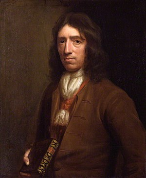 William Dampier - Portrait of Dampier holding his book, a painting by Thomas Murray (c. 1697–1698)