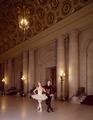 Dancers limber up in the lobby of War Memorial Opera House, San Francisco, California LCCN2011633079.tif