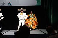 Dancing at the Wikimania 2015 Opening Ceremony IMG 7629.JPG
