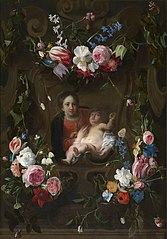 Madonna Surrounded by a Garland of Flowers