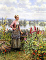 Daniel ridgway knight c3272 maria on the terrace with a bundle of grass.jpg