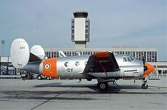 Dassault MD 315 Flamant - Dassault MD 312 Flamant of the Armée de l'Air at Basle-Mulhouse (Euroairport), September 1977