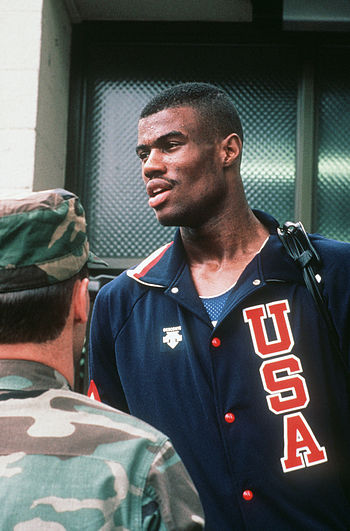 David Robinson of the US Olympic men's basketb...