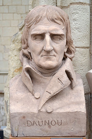 Pierre Claude François Daunou - Bust of Pierre Daunou by David d'Angers (1840).